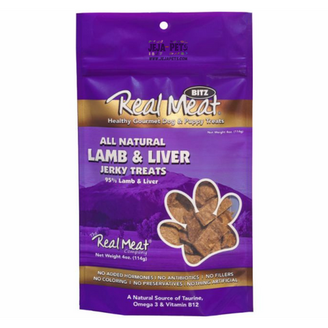 Real Meat Lamb Liver Jerky Treats for Dogs - 113g