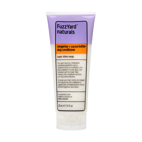 FuzzYard Dog Conditioner (Tangerine + Cocoa Butter) - Super Shine - 220ml