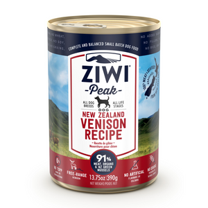 ZIWI Peak (Venison) Canned Dog Food - 12 Cans x 390g