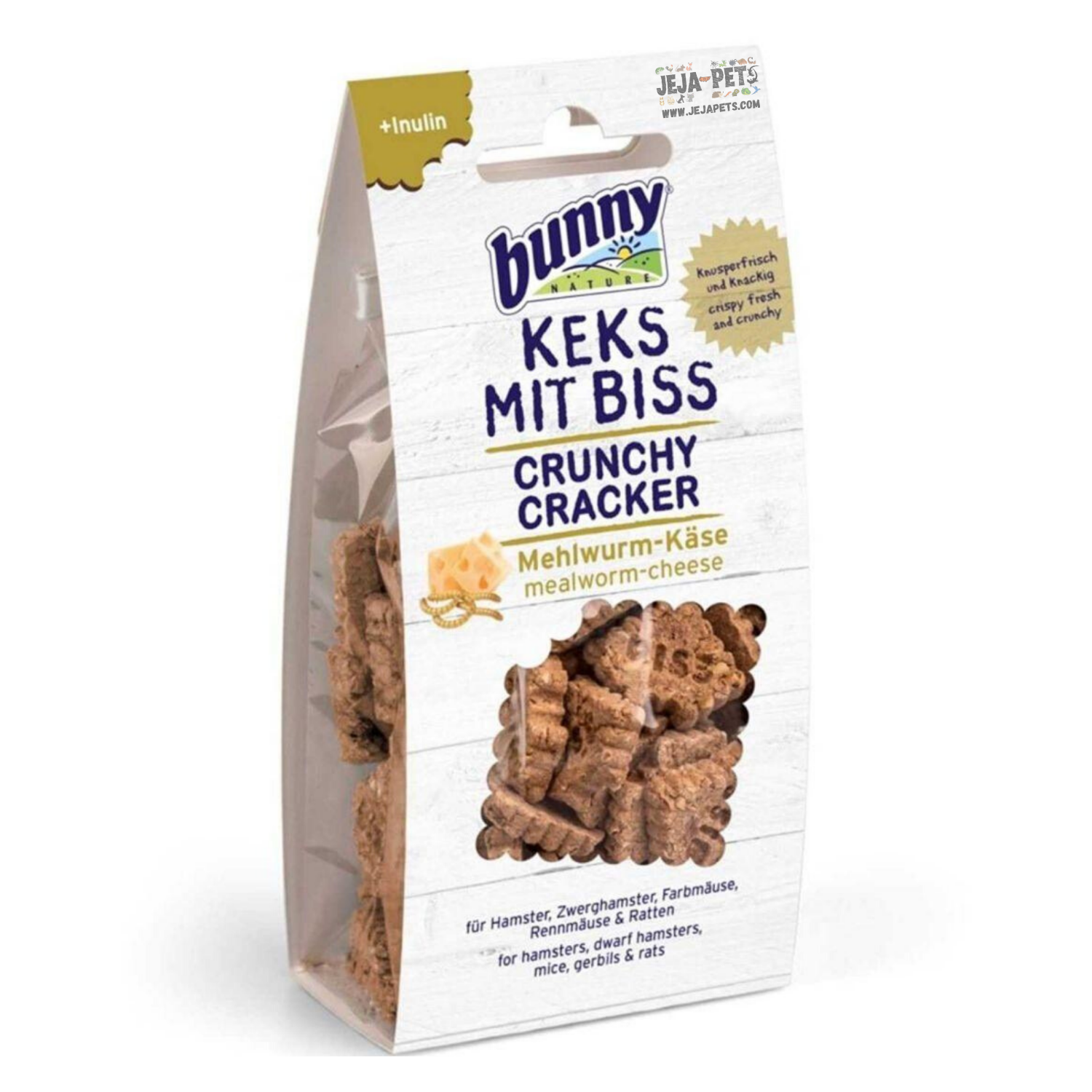 Bunny Nature Crunchy Cracker (Mealworms and Cheese) - 50g