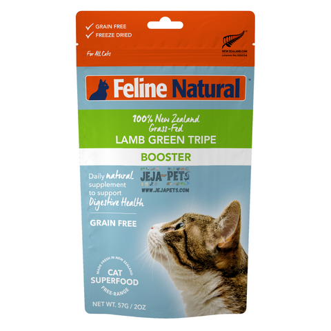 Feline Natural Lamb Green Tripe Freeze Dried Booster - 57g
