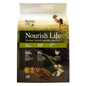 Nurture Pro Nourish Life Chicken for Kittens and Adult Cats - 300g / 1.81kg / 5.67kg