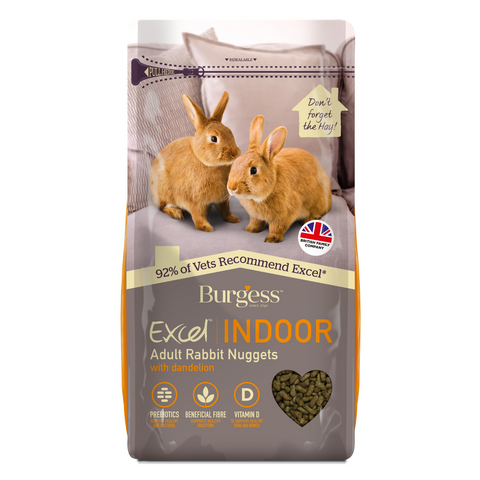 Burgess Excel Indoor Rabbit Nuggets - 1.5kg