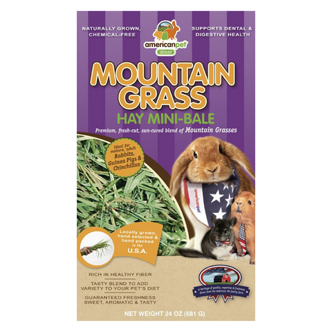 American Pet Diner Mountain Grass Hay (Orchard Grass) - 680g / 2.27kg