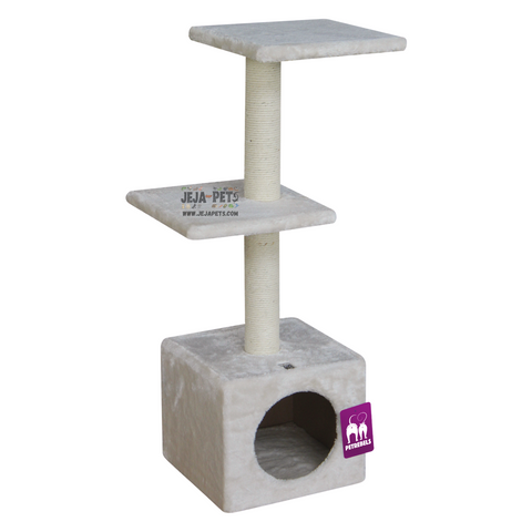 Petrebels Cheap Bastards Boston 90 Cat Tree - Cream / Grey / Chocolate