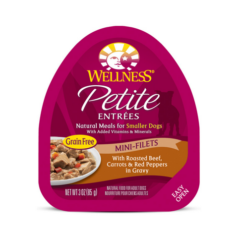 Wellness Small Breed Petite Entrees Mini-Filets - (Roasted Beef, Carrots & Red Peppers in Gravy) - 85g