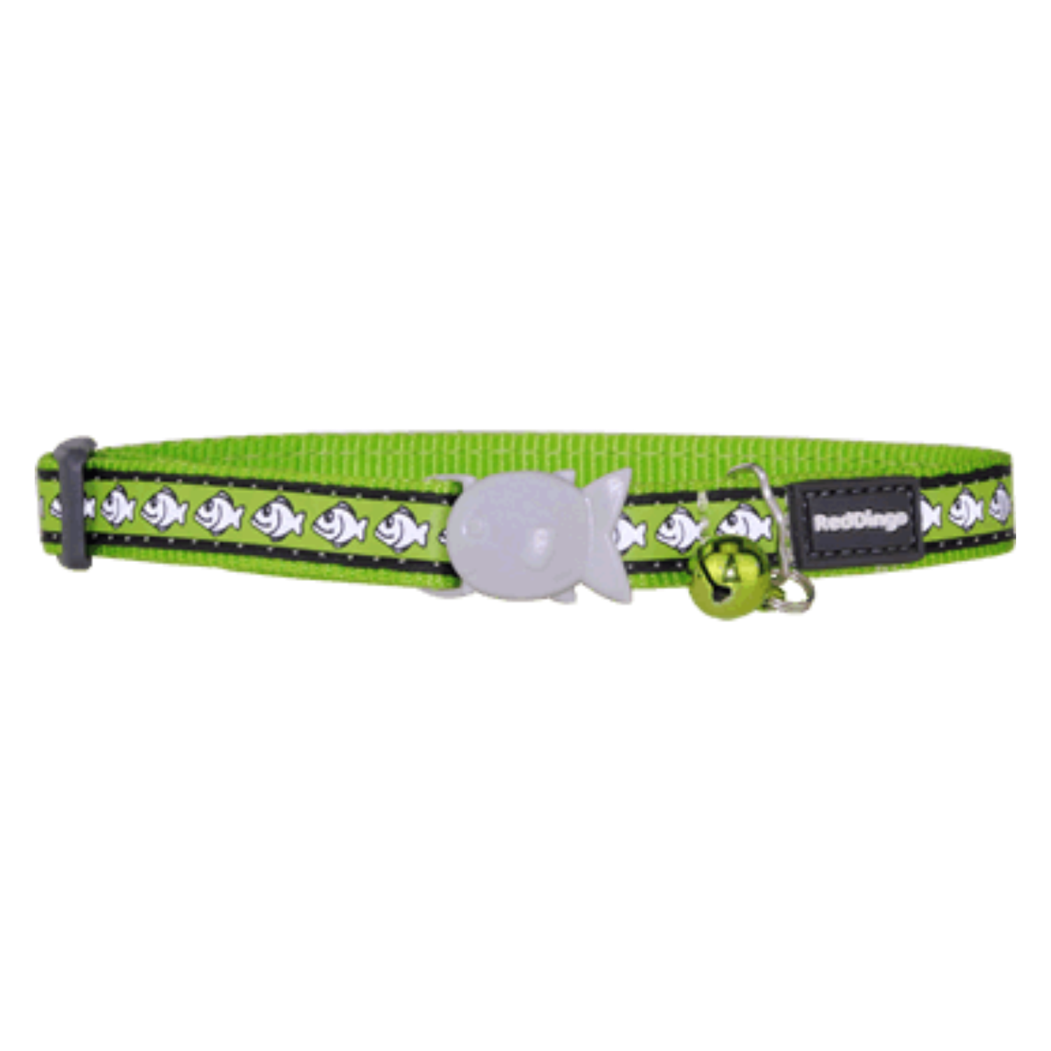 Red Dingo Cat Collars - Reflective Range (Lime Green)