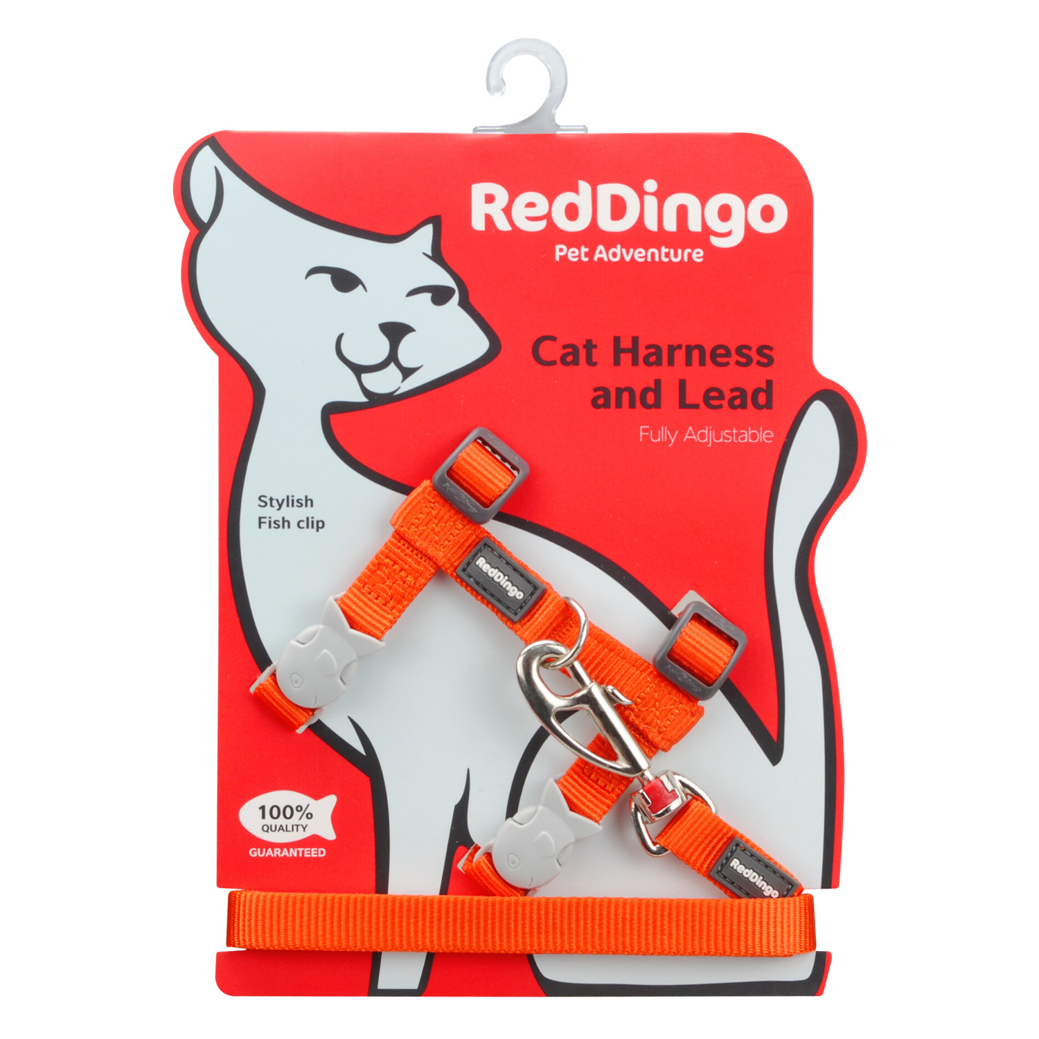 Red Dingo Cat Harness and Lead Combo Classic - (Orange)