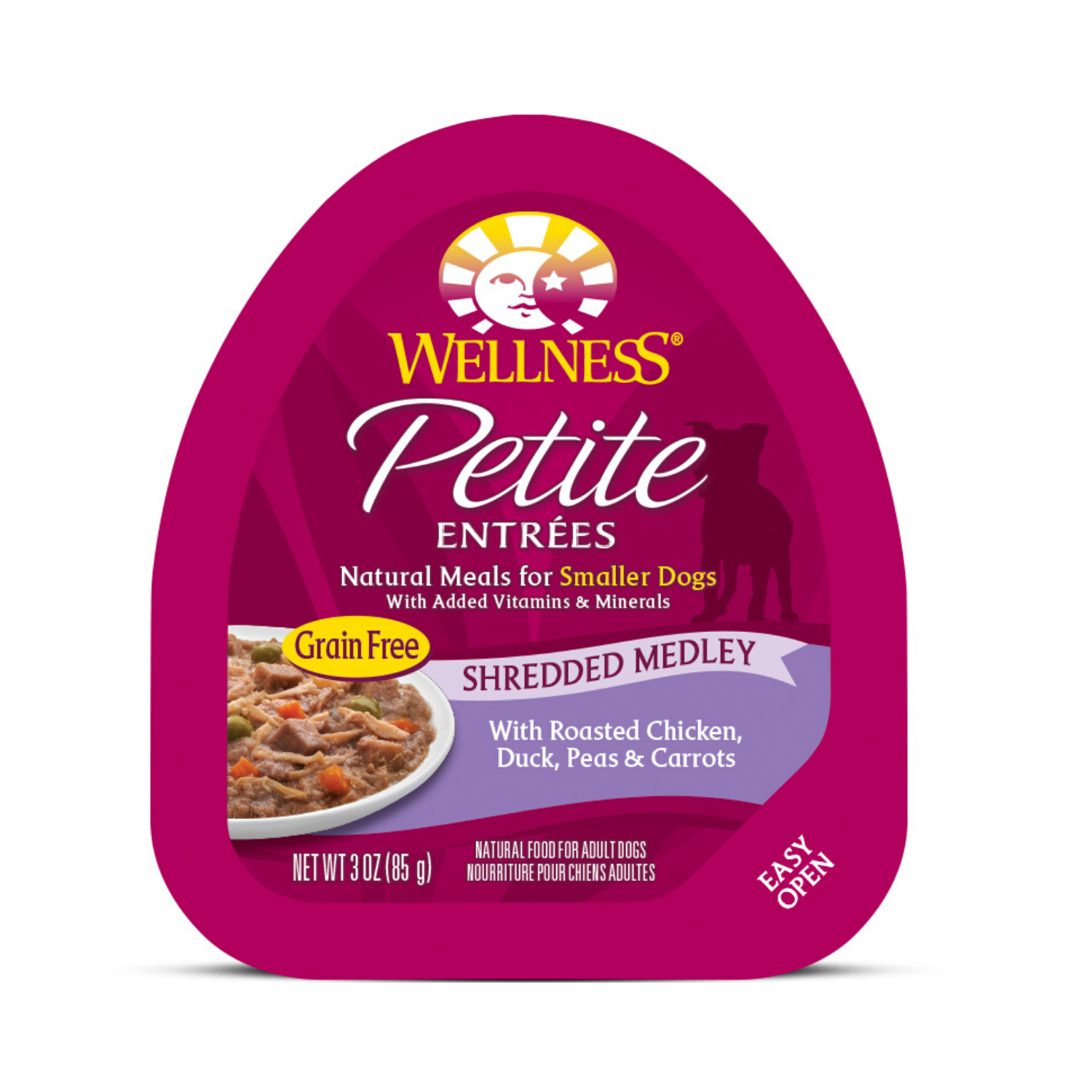 Wellness Small Breed Petite Entrees Shredded Medley - (Roasted Chicken, Duck, Peas & Carrots) - 85g