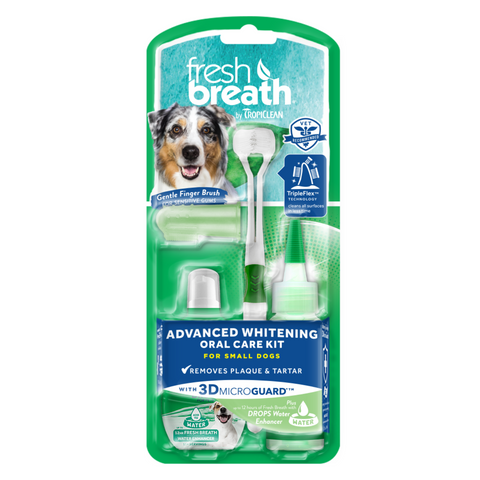 Tropiclean Fresh Breath Advanced Whitening Oral Care Kits (with 3D Micro Guard) - Small / Medium Large