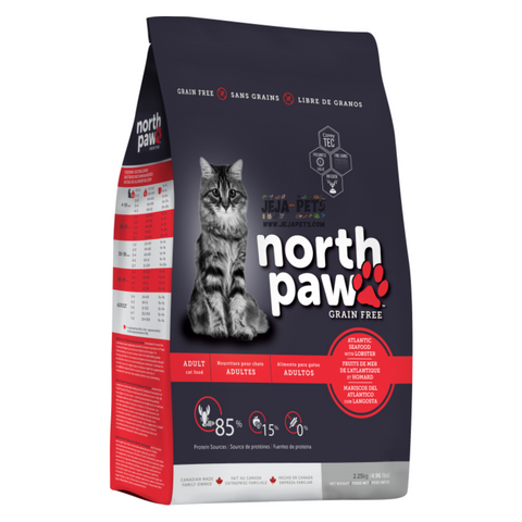 North Paw Atlantic Seafood with Lobster (Fish & Lobster Cat Food) - 2.25kg