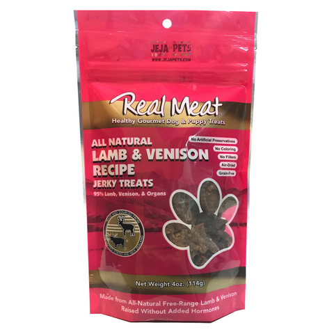 Real Meat Lamb & Venison Jerky Treats for Dogs - 113g