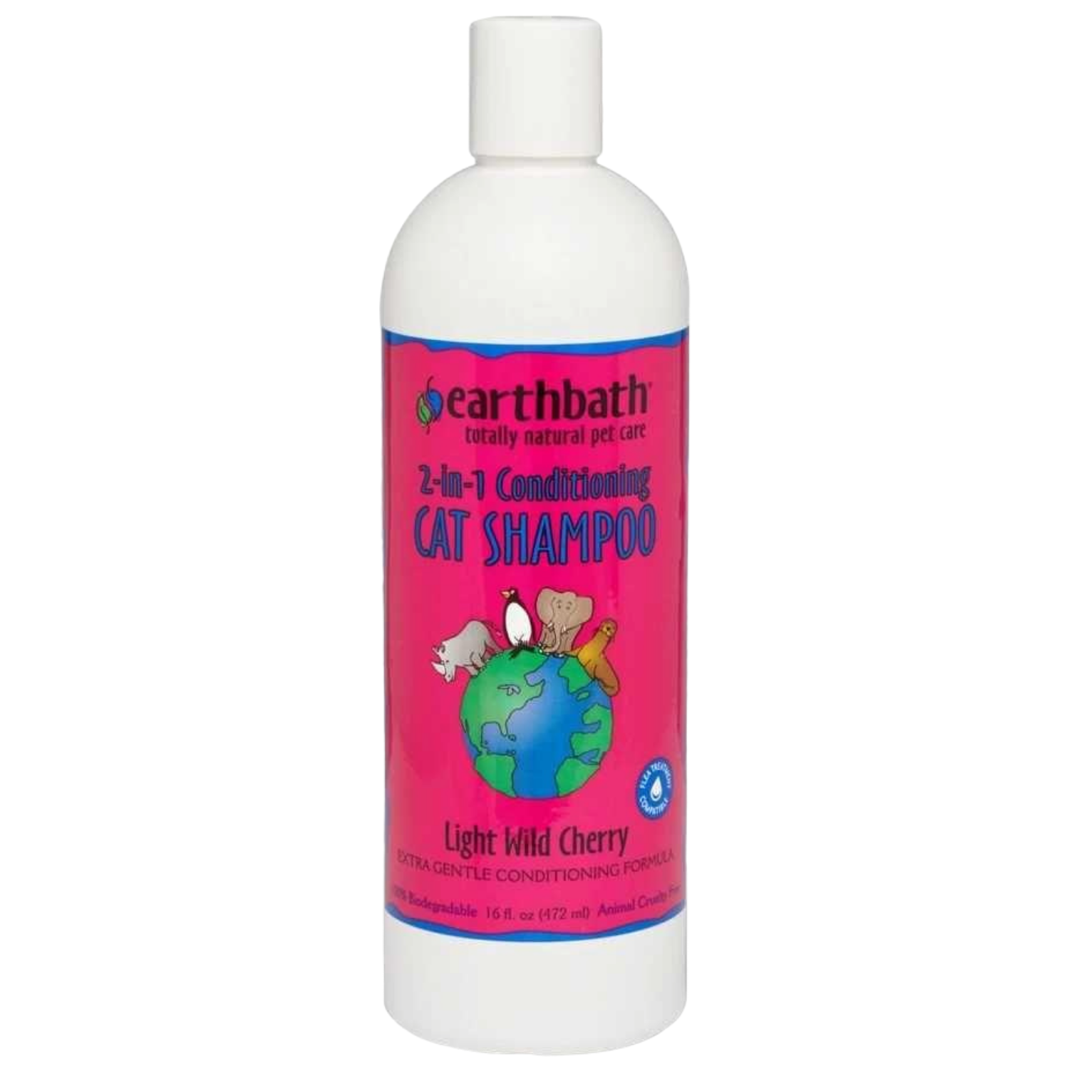 Earthbath 2-in-1 Conditioning Cat Shampoo (Light Wild Cherry)