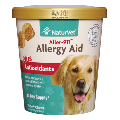 NaturVet Aller-911® Allergy Aid Plus Antioxidants Soft Chews - 70 ct (30 day supply)
