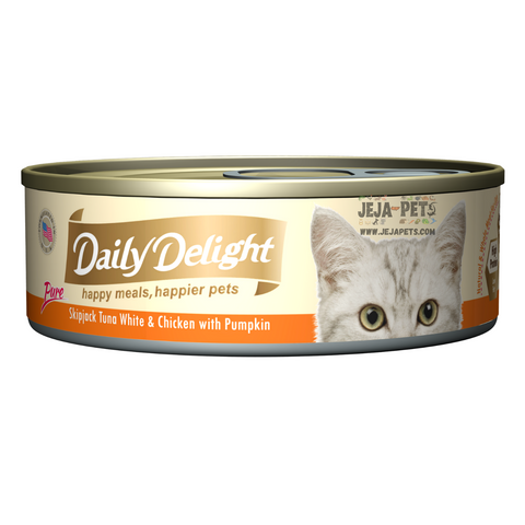 Daily Delight Pure Skipjack Tuna White & Chicken with Pumpkin - 80g