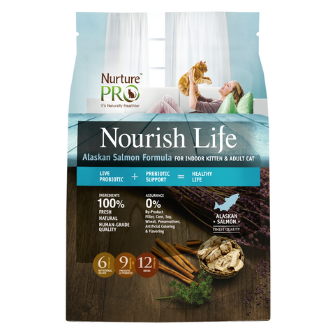 Nurture Pro Nourish Life Alaskan Salmon for Indoor Kittens and Adult Cats - 300g / 1.81kg / 5.67kg