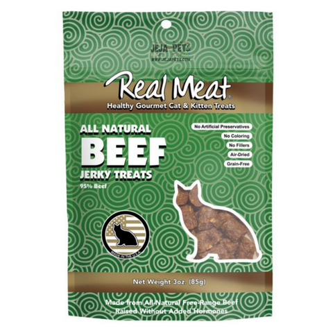 Real Meat Beef Jerky Treats for Cats - 85g
