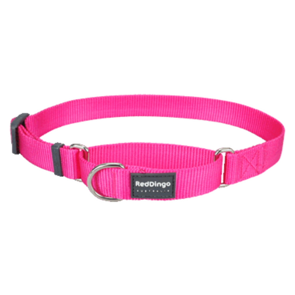 Red Dingo Martingale Half Check Collar - Classic Range (Hot Pink)