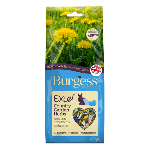 Burgess Excel Snacks (Country Garden) Herbs - 120g