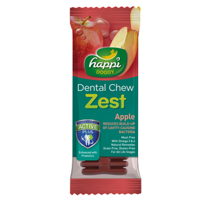 Happi Doggy Dental Chew Zest (Apple) - 10 / 50 pcs