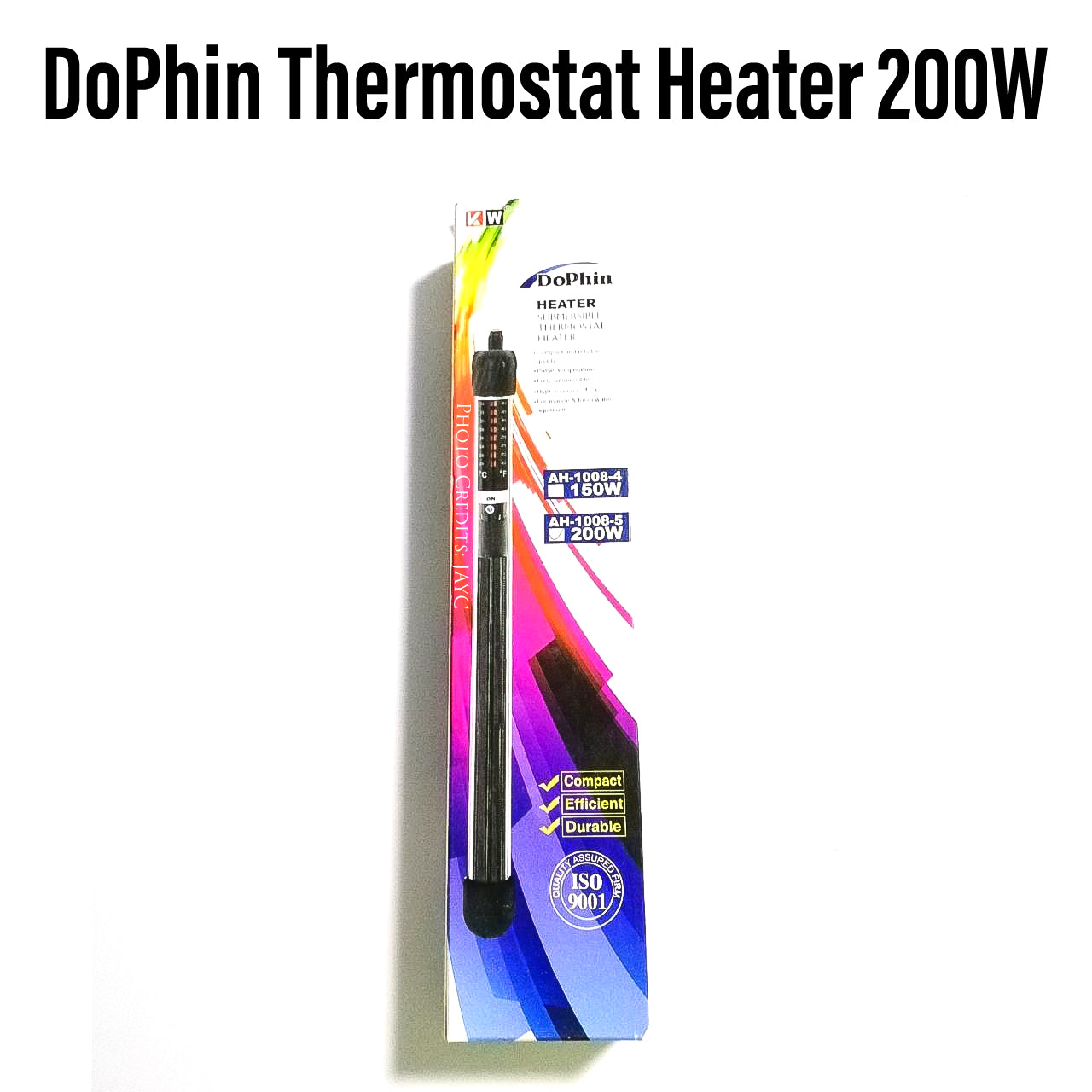 Dophin Submersible Thermostat Heater - 200 Watts