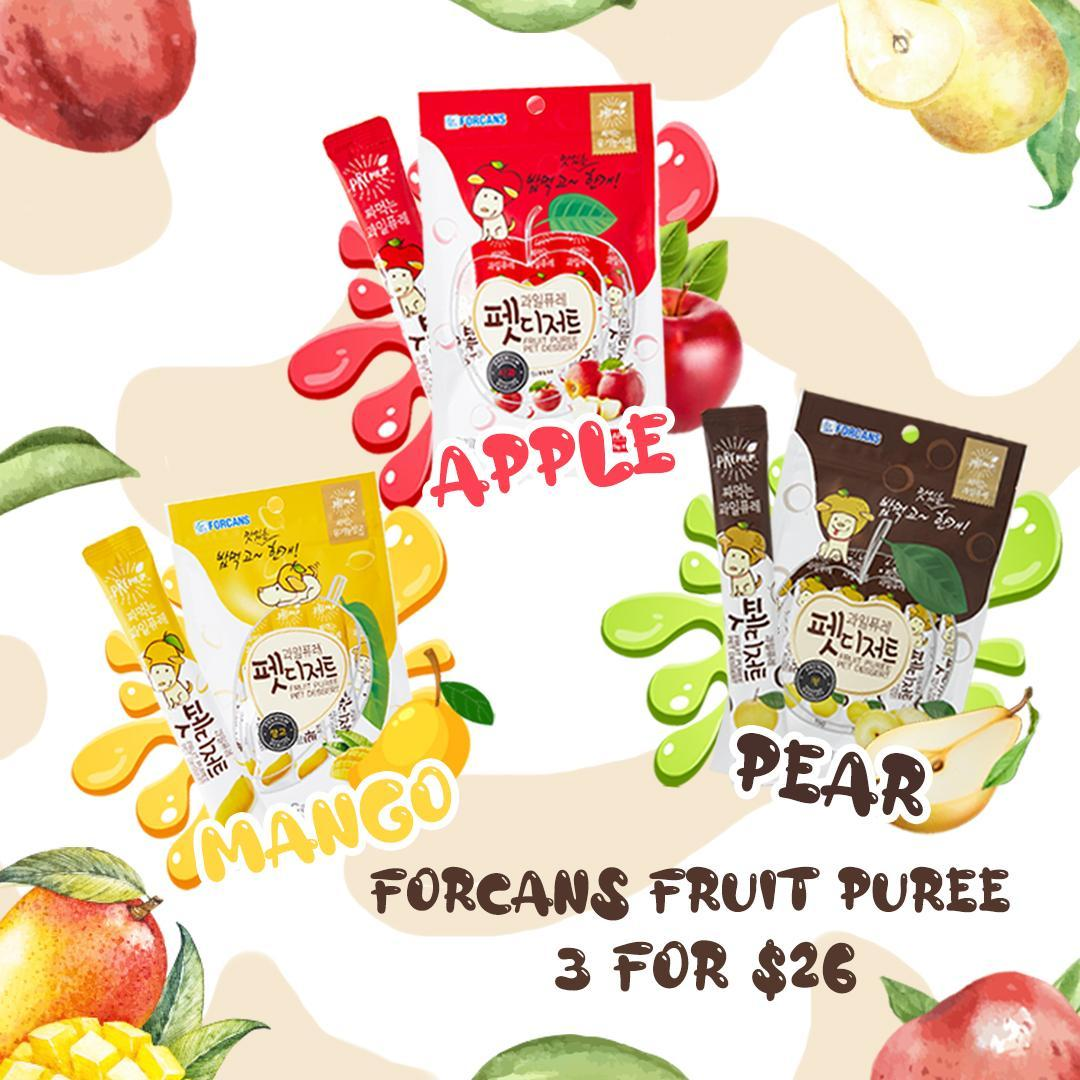[PROMO: 3 FOR $26] Forcans Pet Dessert Fruit Puree