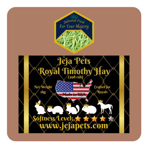 Jeja Pets Royal Timothy Hay (2nd Cut) - 2kg