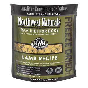 Northwest Naturals Raw Diet For Dogs (Lamb) Freeze Dried Nuggets 12oz