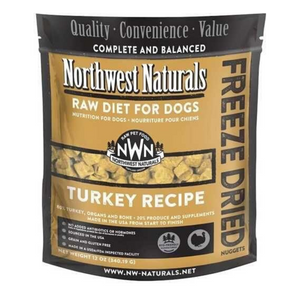 Northwest Naturals Raw Diet For Dogs (Turkey) Freeze Dried Nuggets 12oz