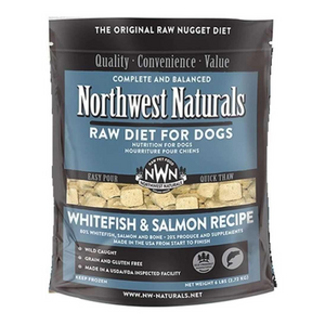 Northwest Naturals Raw Diet For Dogs (Whitefish & Salmon) Freeze Dried Nuggets 12oz