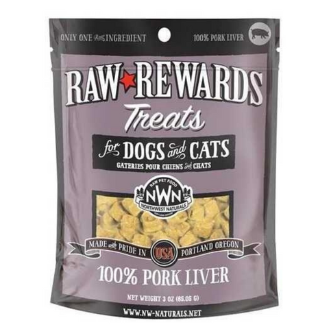 Northwest Naturals Raw Rewards (Pork Liver) Treats 3oz
