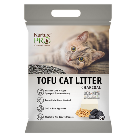 Nurture Pro Tofu Cat Litter (Charcoal) - 6L