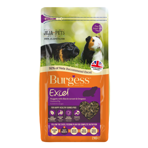 Excel Adult Guinea Pig Nuggets with Blackcurrent and Oregano - 2kg