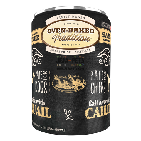 Oven-Baked Tradition (Quail) PÂTÉ Canned Food for Dogs - 354g