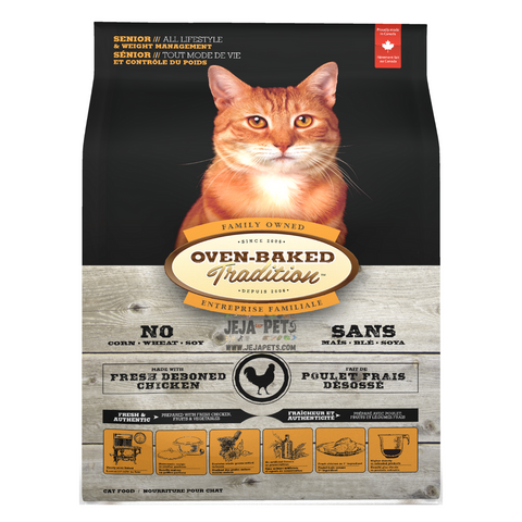 Oven-Baked Tradition (Chicken) Weight Management for Senior Cats - 1.13kg / 4.5kg