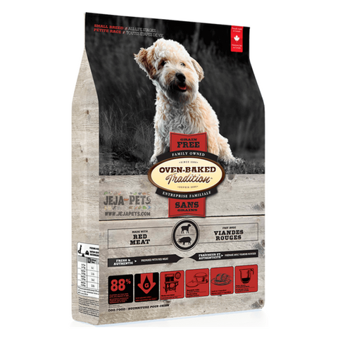 Oven-Baked Tradition Grain Free (Red Meat) for Small Breed Dogs - 2.27kg / 5.67kg