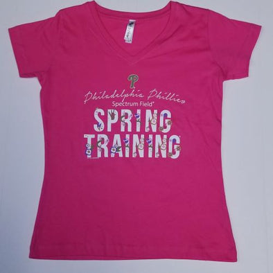 Phillies Spring Training Tee With Flowers Women's Cut