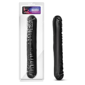 "B Yours 18"" Double Dildo - Black - Exotic Room"