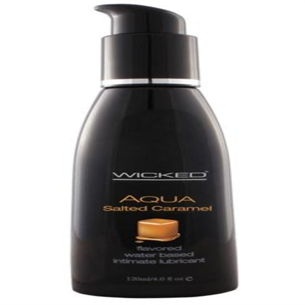 Aqua Salted Caramel Water-Based Lubricant - 4 Oz. - Exotic Room
