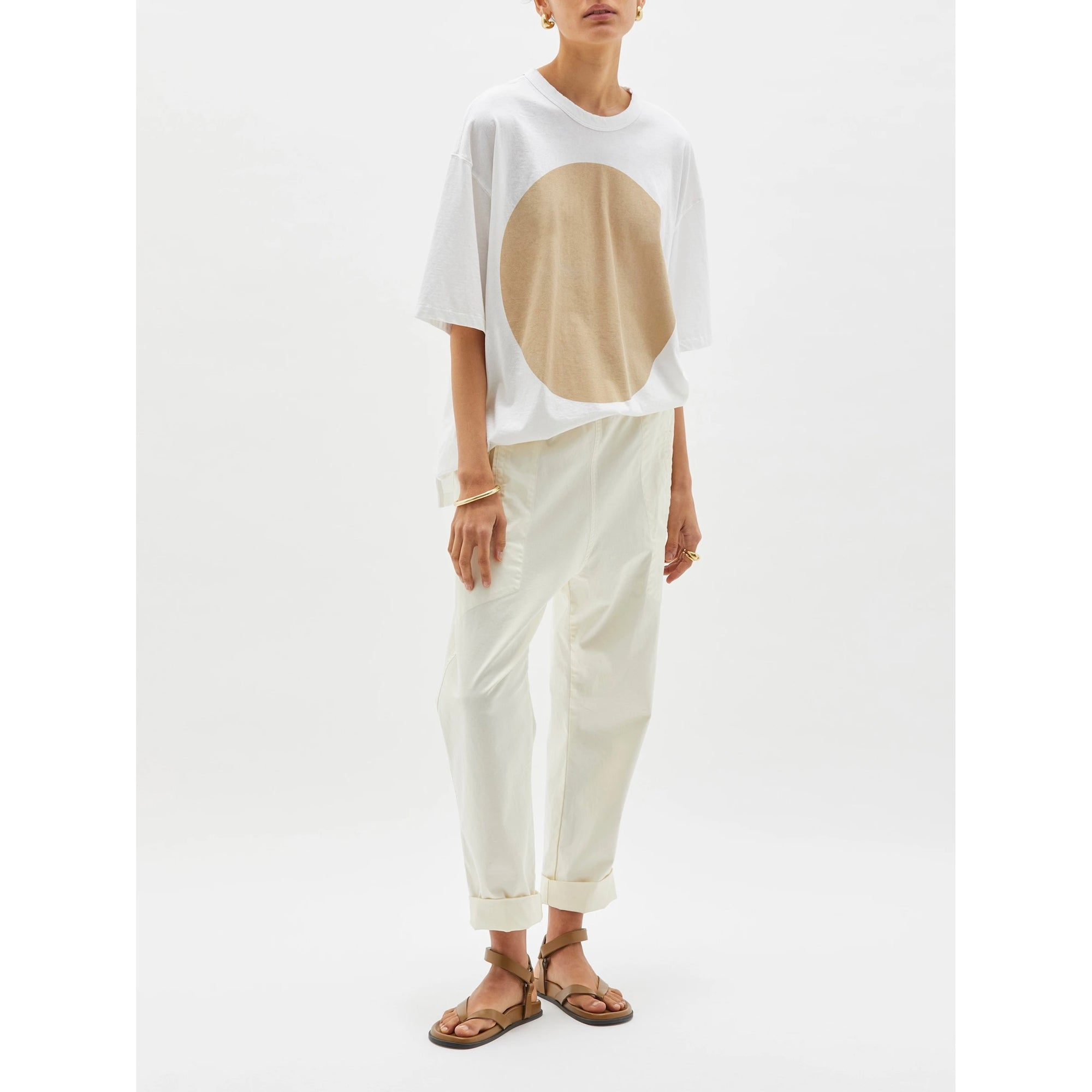 Bassike OS Wide Htg dot s/s t.shirt