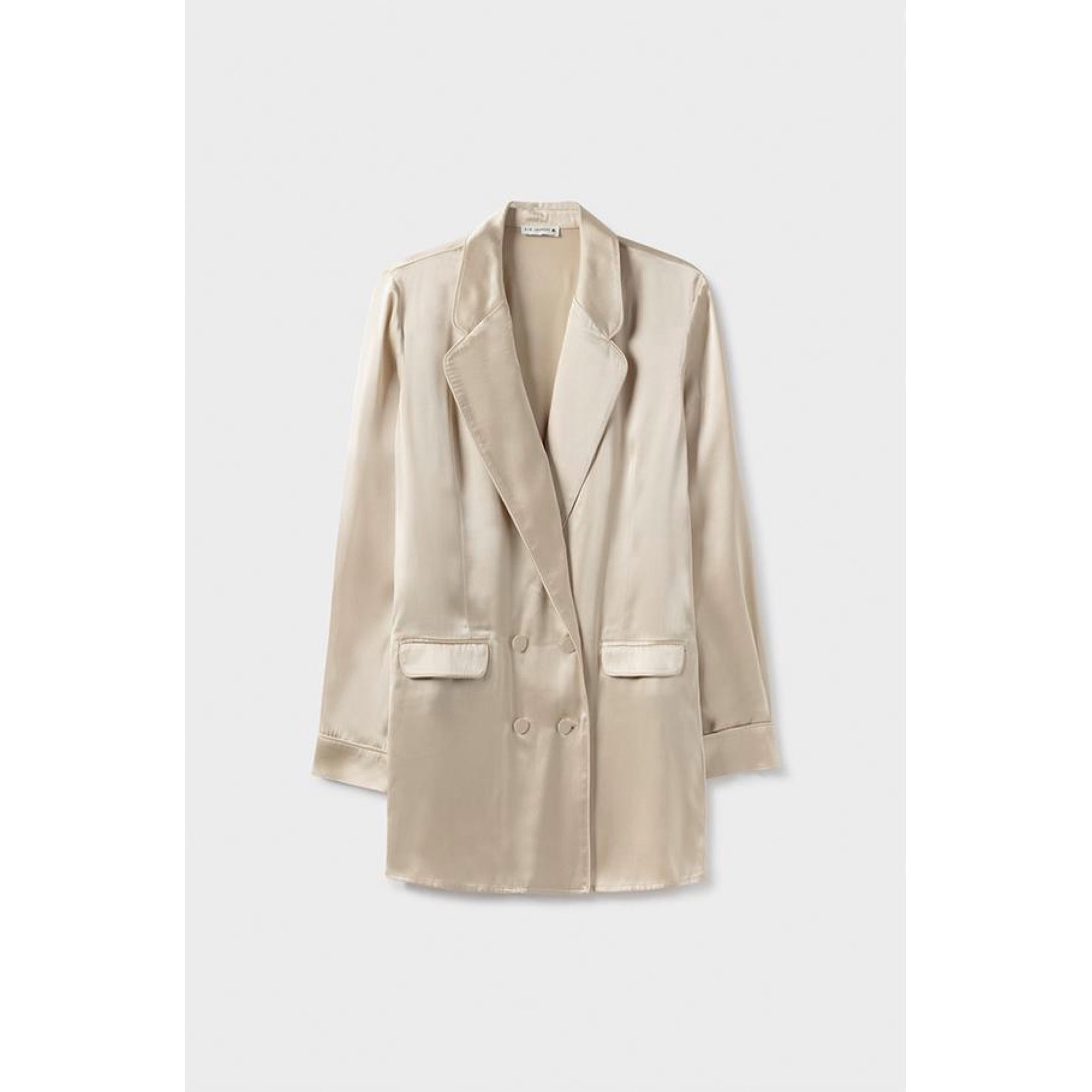 Silk Laundry Relaxed Blazer Hazelnut