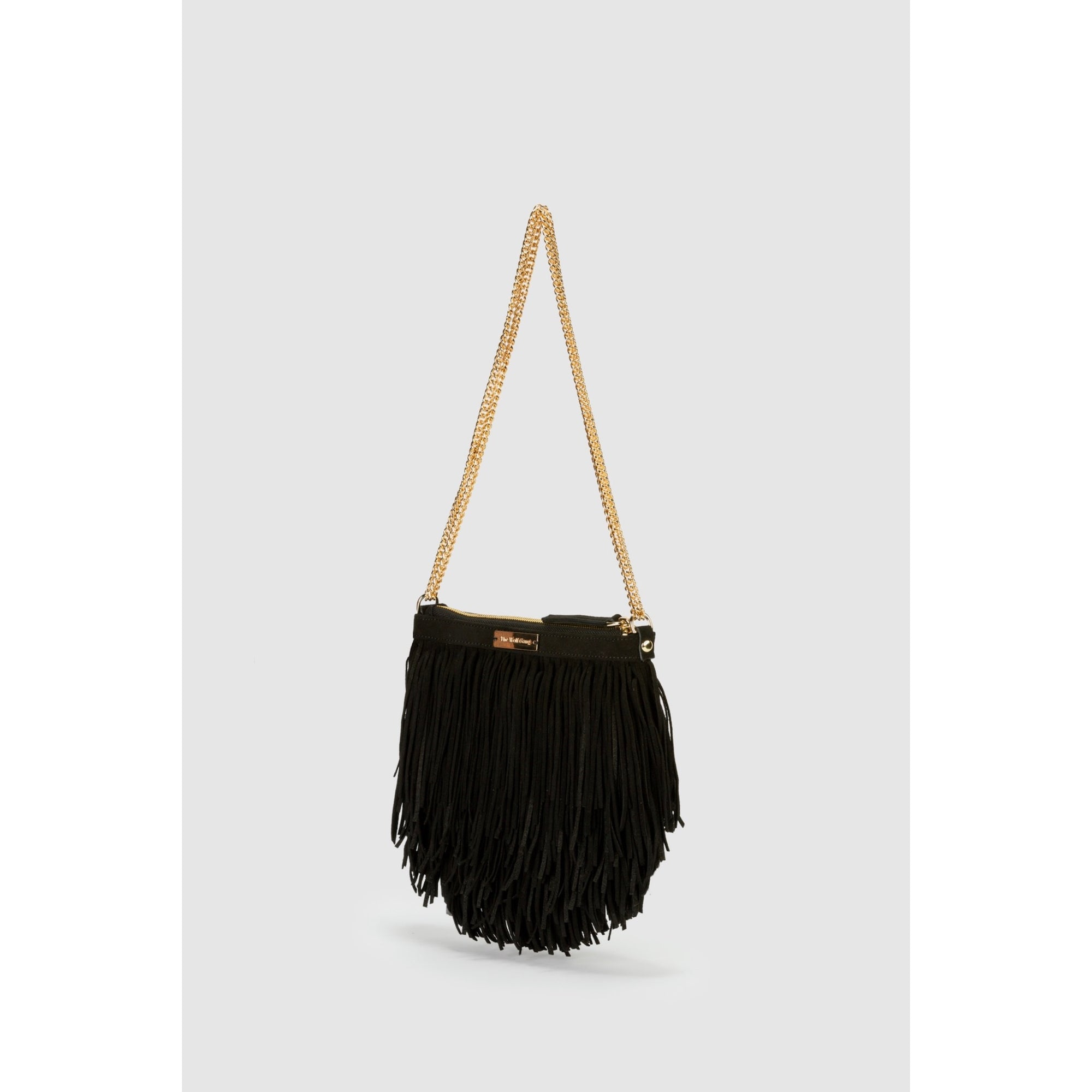 The Wolf Gang Ondara Ultrasuede Fringe Bag – Noir