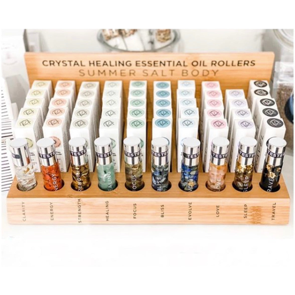 Summer Salt Crystal Healing Essential Oil Rollers