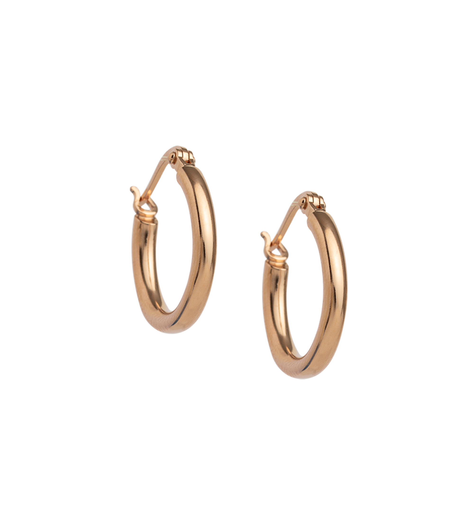 Kirstin Ash Tidal Hoops 18K Rose Gold