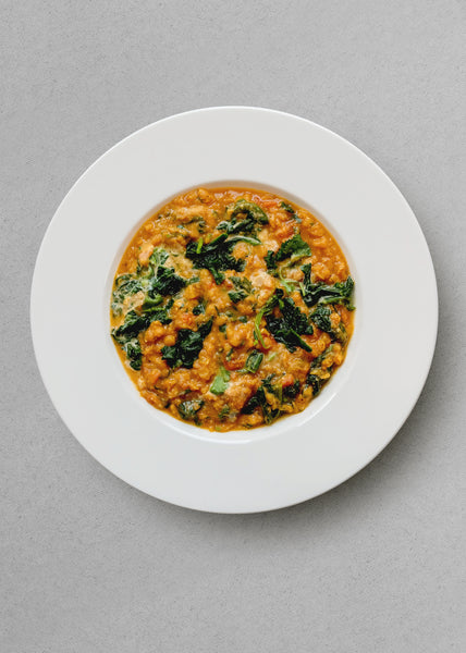 Red Lentil and Spinach Curry (Vegan) - Skim