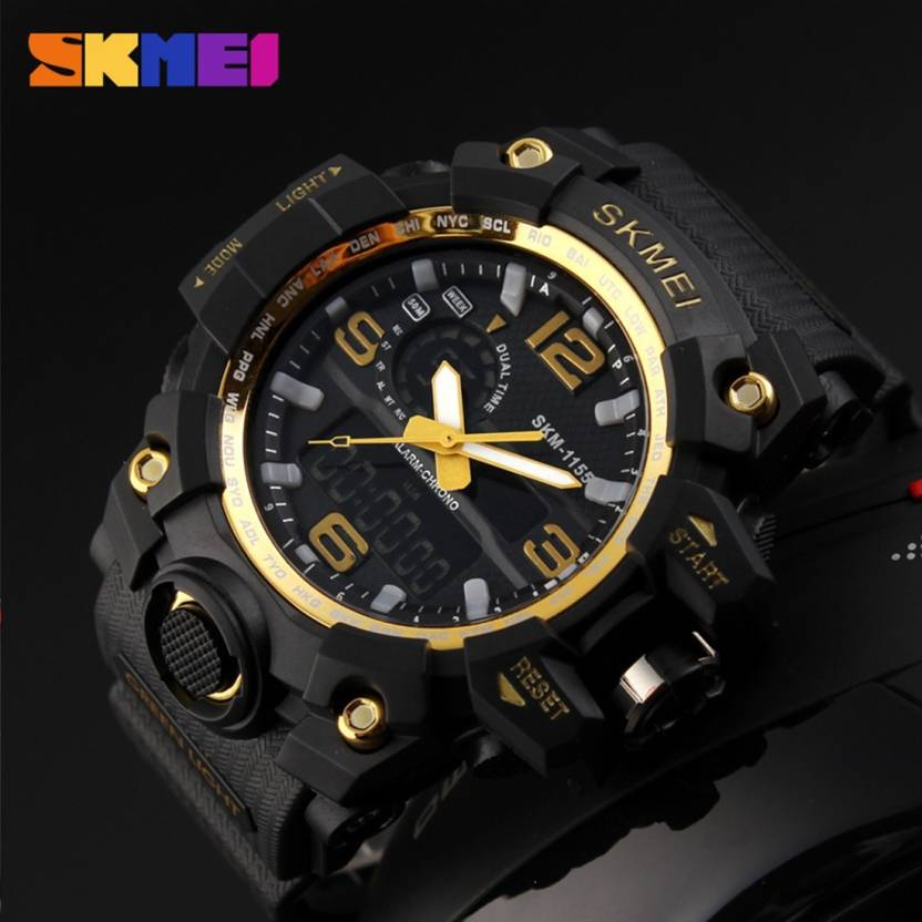 SKMEI Multifuction Black Color Digital Men's Watch DY04