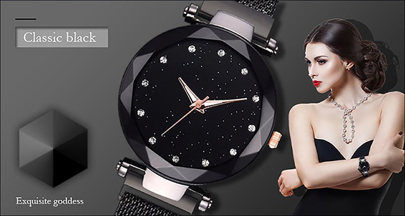 Luxury Ladies Magnetic Starry Wrist watches