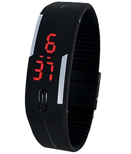 Black Color Men's Digital Watch-DY33
