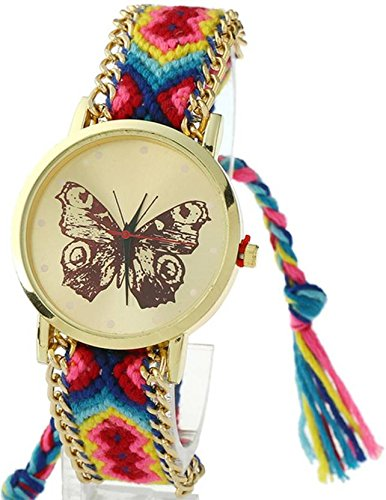 DealYEP New Arrival Cute Butterfly Multi colour Stylish Analog Watch - for Girls & Women DY96