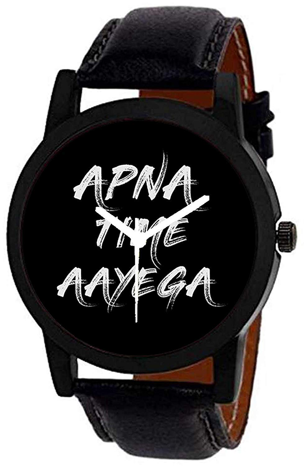 Apna Time Aayega Black  Color Analog Watch for Men-DY60